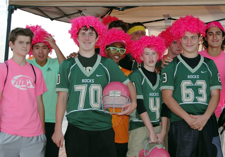 Members of the WHS freshman football team raised more than $2,500 for Indiana Women in Need. (Submitted photo)