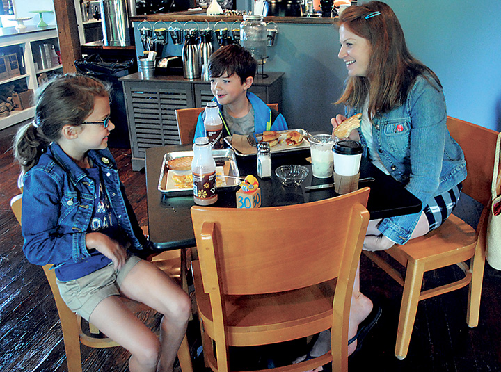 Diners enjoyed breakfast at the grand opening of Village Kitchen this summer. (File photo)