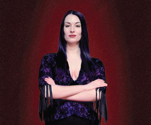 """Erin Cohenour as Morticia in Beef & Boards' """"The Addams Family."""" (Submitted image)"""