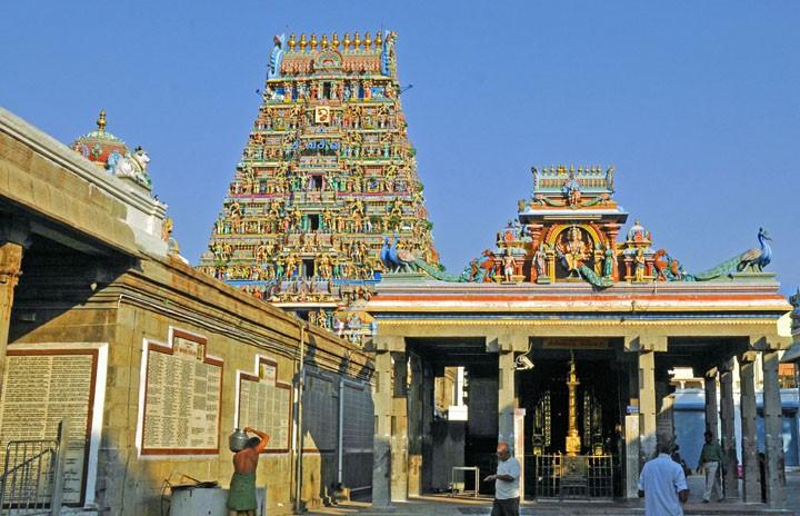 Kapaleshvara Temple in Chennai, India (Photo by Don Knebel)