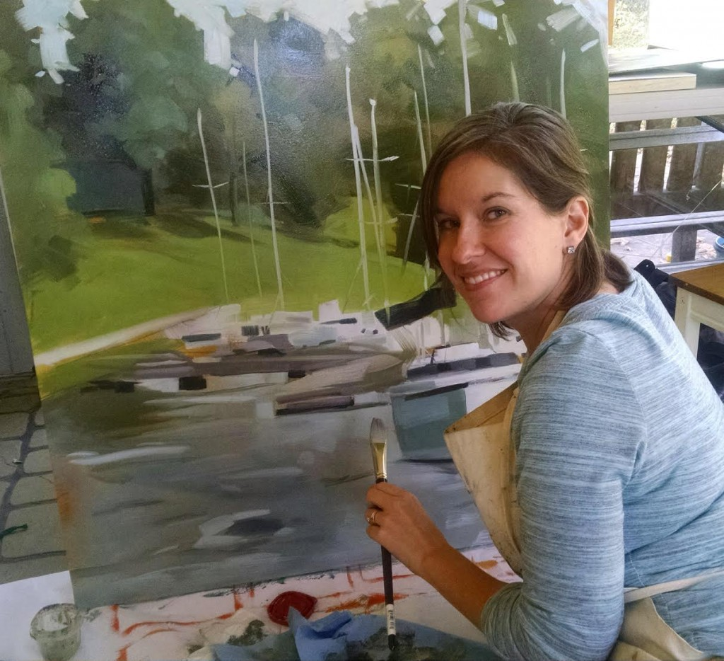 Jessica Green with one of her oil paintings. (Submitted photo)