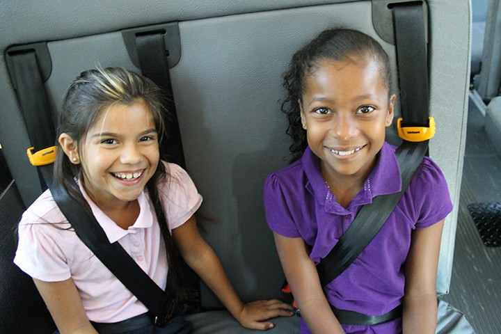 An example of the three-point lap-shoulder seatbelts NHTSA recommends all school buses to use. (Submitted image)