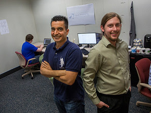 Mohammad Almalag, left, with Derrek Bertrand at FDIS in Kokomo. (Submitted photo)