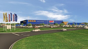 A rendering of the Ikea facility. The facility is expected to break ground in fall 2016 (Submitted renderings)