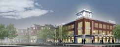 A rendering of The Switch building at 116th Street and Municipal Drive. The Switch is scheduled to house companies CloudOne, Ginovus and a Purdue medical research department. (Submitted rendering)