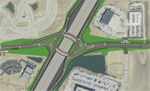 An overhead rendering of the Interstate 69 and 106th Street overlay. (Submitted rendering)