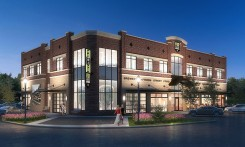 A rendering of the Lantern Road mixed-used facility. upon completion, the facility will house Fishers brewery Four Day Ray and offer an upstairs office space. (Submitted rendering)