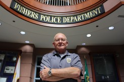 Fishers Police Chief George kehl. Kehl has been a member of the Fishers Police Dept. for nearly four decades. (Photo by James Feichtner)