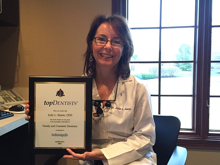 Dr. Julie Stante received the designation of Top Dentist by Indianapolis Monthly and outstanding dentist by topDentist, LLC. (Photo by James Feichtner)