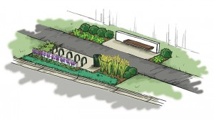 A proposed rendering of part of the renovation for Fall Creek Trail. (Submitted rendering)