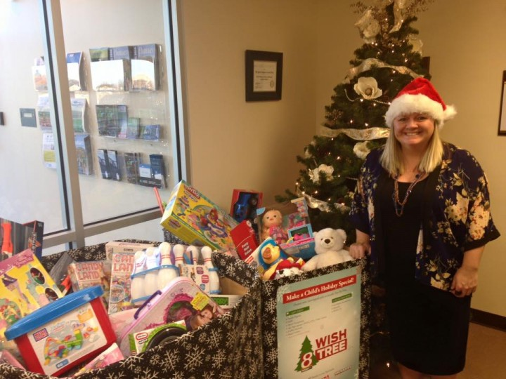 Erin Shockley participates in the Toys for Tots drive. (Submitted photo)