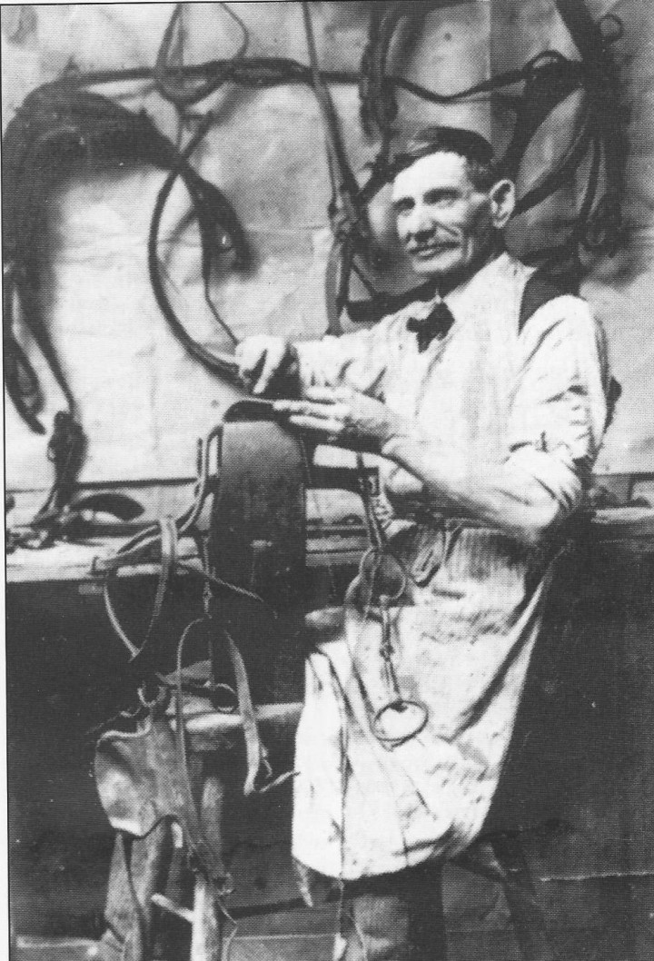 Joe Schenck was a harness maker in Zionsville in the early 20th century. (Photo courtesy of SullivanMunce Cultural Center)
