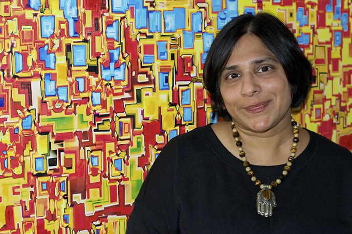 Aanal Mehta sells different forms of Indian art. (Photo by Lisa Price)