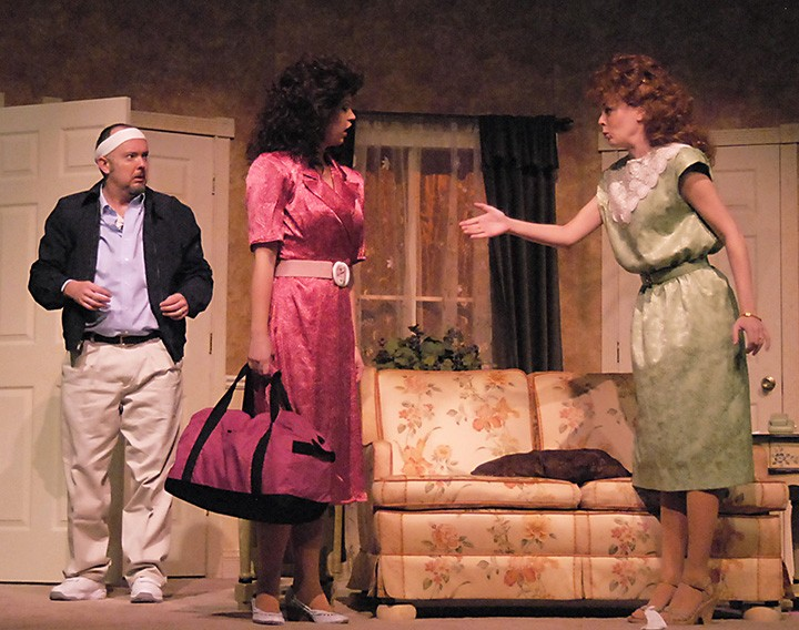 Actors Eddie Curry, Sarah Hund and Erin Cohenour on stage. (Submitted photo)