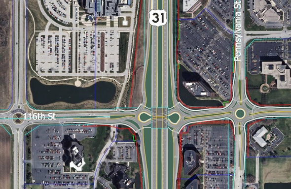 An illustration of the final U.S. 31 and116th Streetinterchange configuration. (Submitted image)