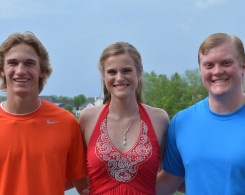 From left, Matthew, Samantha and Nicholas Wolfe. (Submitted photo)