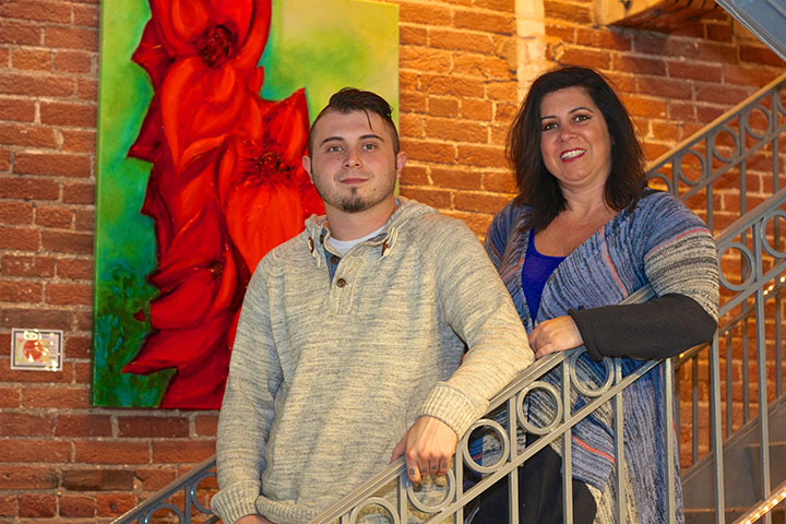 Gina Bardach with son Brandon. Gina is the founder and president of Hope and OVERcoming, Inc. (Photo by Sadie Hunter)