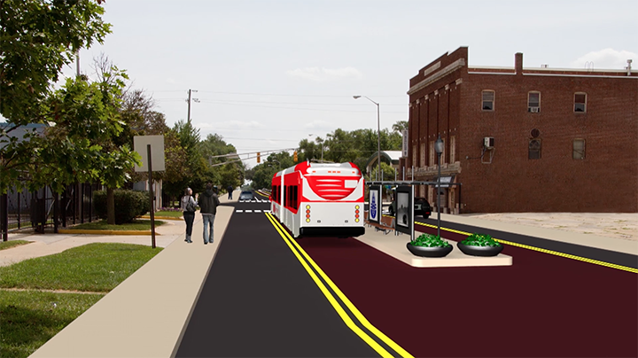 An image of what the Red Line may look like at the College Avenue station. (Submitted rendering)