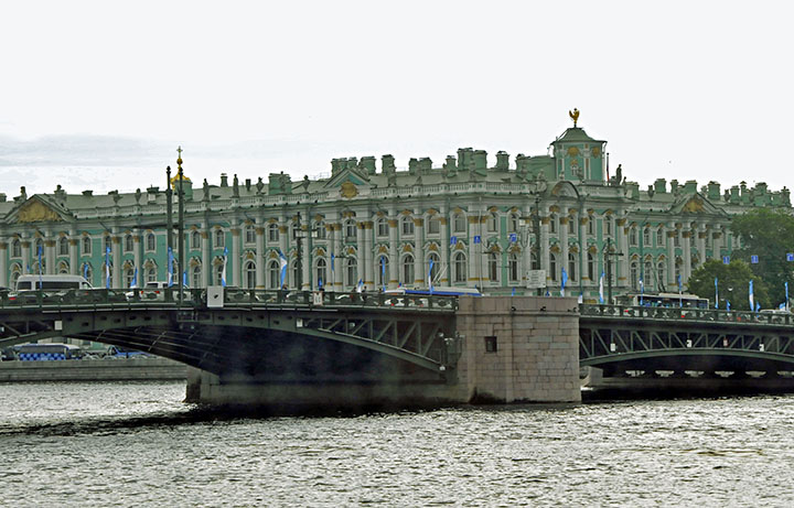 Winter Palace of the Hermitage . (Photo by Don Knebel)