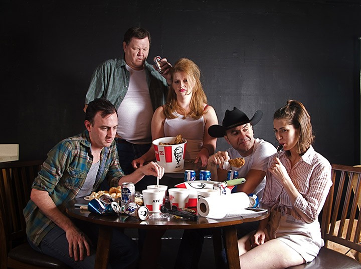 From left: Nate Walden as Chris, Dan Scharbrough as Ansel, Lisa Marie Smith as Sharla, Ben Asaykwee as Killer Joe and Jaddy Ciucci as Dottie will all be a part of 'Killer Joe.' (Submitted photo)