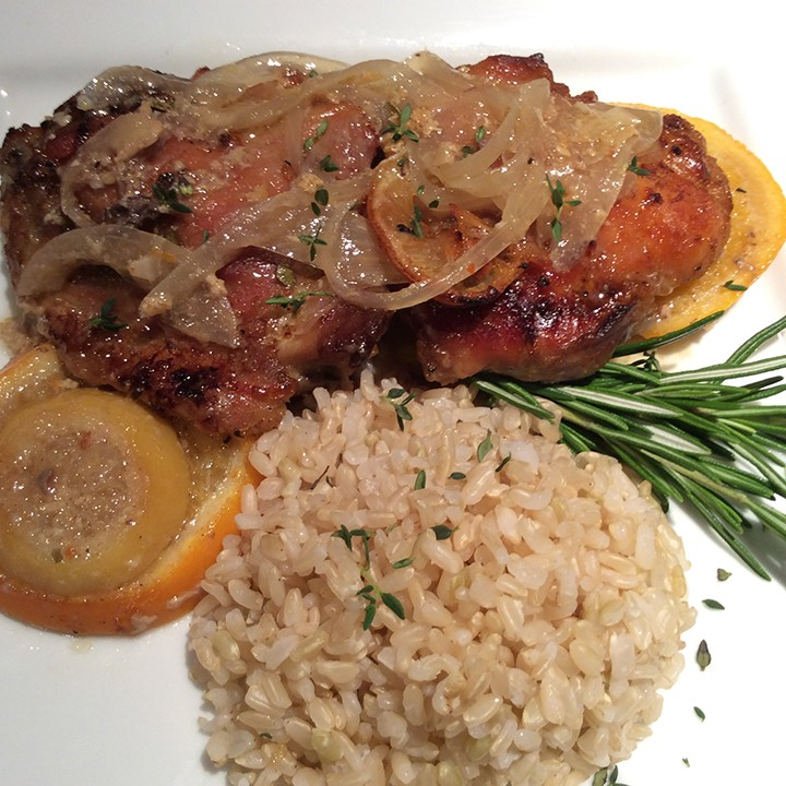 Lemon, orange, honey and herbs is the perfect combination for chicken. (Photo by Ceci Martinez)