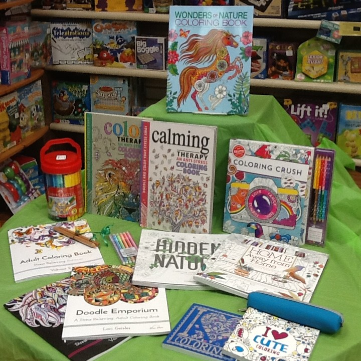 Coloring books at Earth Explorers. (Submitted photo)