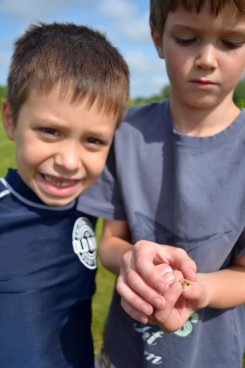 Aidan Burke and Jonas Williams in the Outdoor Explorers class put on by the Carmel Clay Parks and Recreation Dept. last year. (Submitted photo)