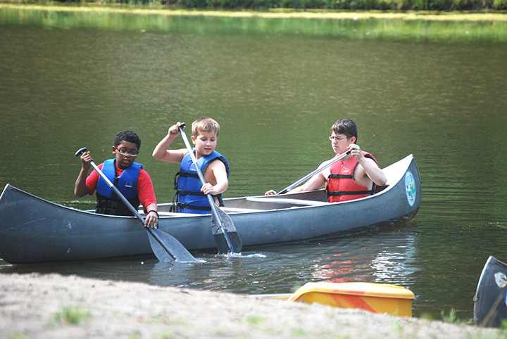 Kids learn the art of canoeing during a summer at Kikthawenund Day Camp.