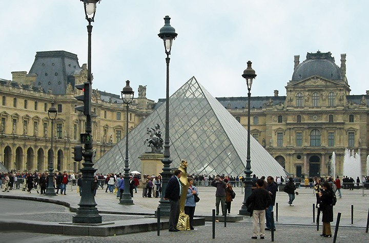 Entry Pyramid at Louvre Museum (Photo by Don Knebel)