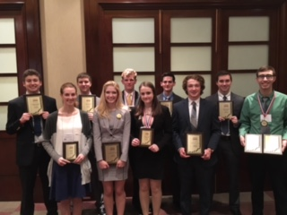 ZCHS students advancing to the national BPA competition are, back row from left, Sam Ungar, Kurt Roeder, Luther Rice, Daniel Perkins, Will Caldwell, Dominic Rossi, and front row from left, Hannah Cleveland, Madison McKinnon, Sydney Beck and Chandler Horton. (submitted photo)