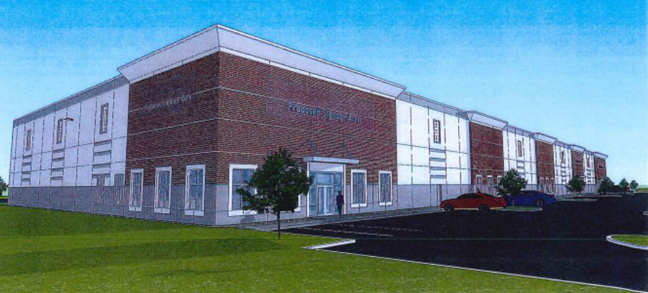 A rendering of the proposed expansion of N.K. Hurst Company to Zionsville. (submitted photo)