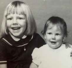 Cindy McClure, left, and Chrissy Field as children. Both girls grew up in Carmel and graduated from Carmel High School. (Submitted photo)