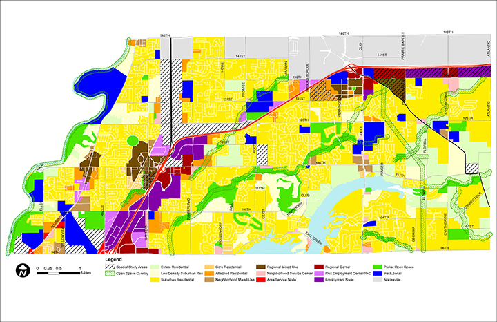 The land-use map included in the Fishers 2040 comprehensive plan. (Submitted map)