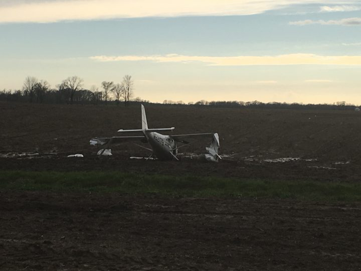 A plane crashed near Zionsville Executive Airport on April 21. (Submitted photo)