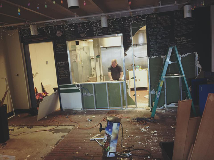 Books and Brews will open in the space that formerly held Zionsville Grill. Owner Jason Wuerfel expects the transformation to be complete in three to six months. (Submitted photo)