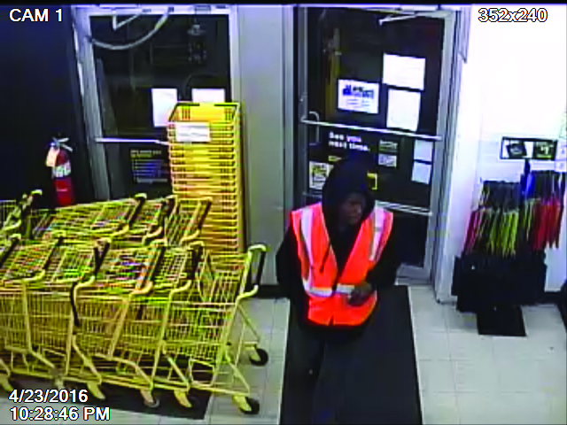 Lawrence police are trying to determine the identity of this pictured suspect who robbed the Dollar General at 8050 Pendleton Pike. (Submitted photo)