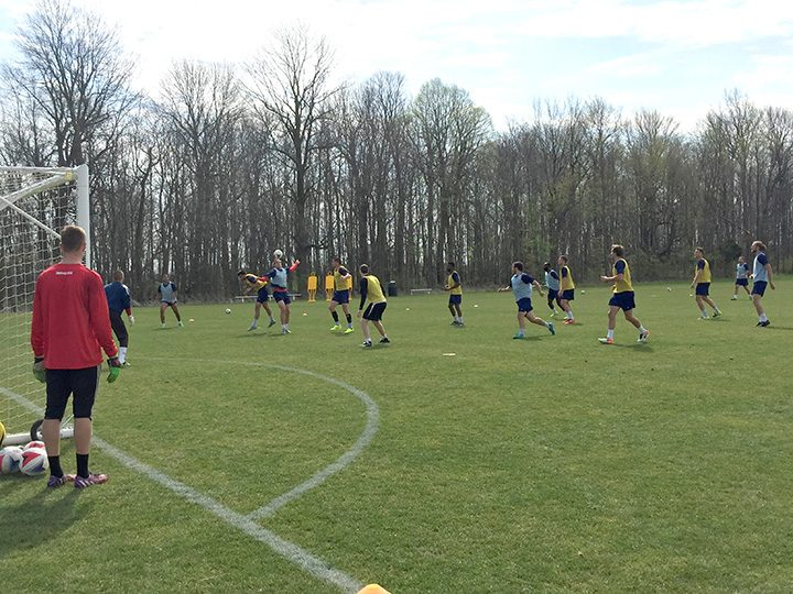 Indy Eleven uses Grand Park for practices daily. (Submitted photo)