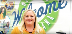 Erin Shockley, hospital and volunteer coordinator, is part of a video introducing the Westfield Welcome Wagon. (Submitted photo)