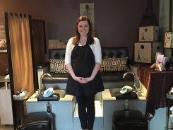 Michaela Baird, esthetician at Sundance Salon and Spa in Zionsville, claims the dual exfoliation facial is a great treatment for a spring look. (Photos by Anna Skinner)