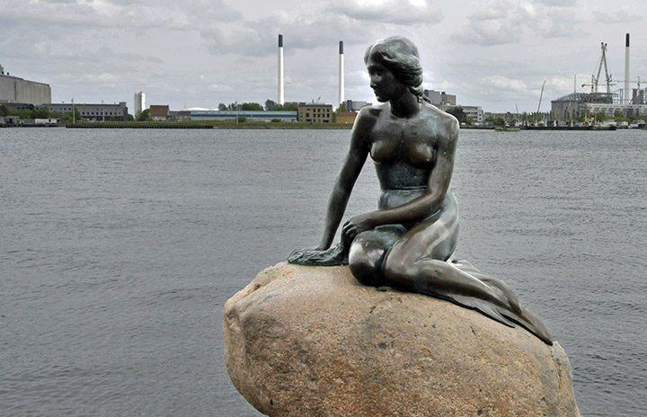Little Mermaid Statue in Copenhagen Harbor. (Photo by Don Knebel)