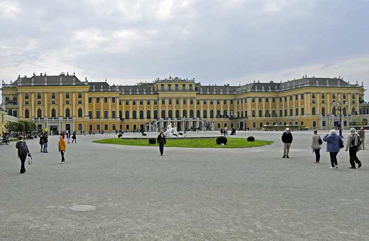 The south side of Vienna's Schönbrunn Palace. (Photo by Don Knebel)