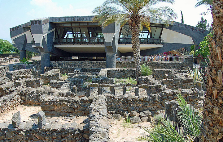 Memorial to Peter in Capernaum, Israel. (Photo by Don Knebel)
