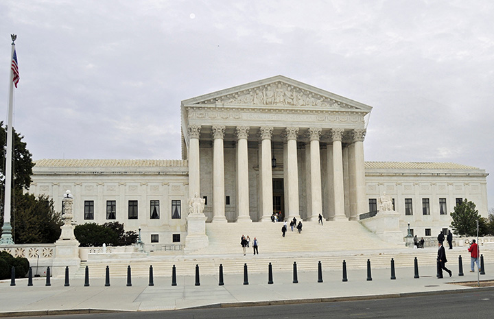 Western façade of the U. S. Supreme Court Building. (Photo by Don Knebel)