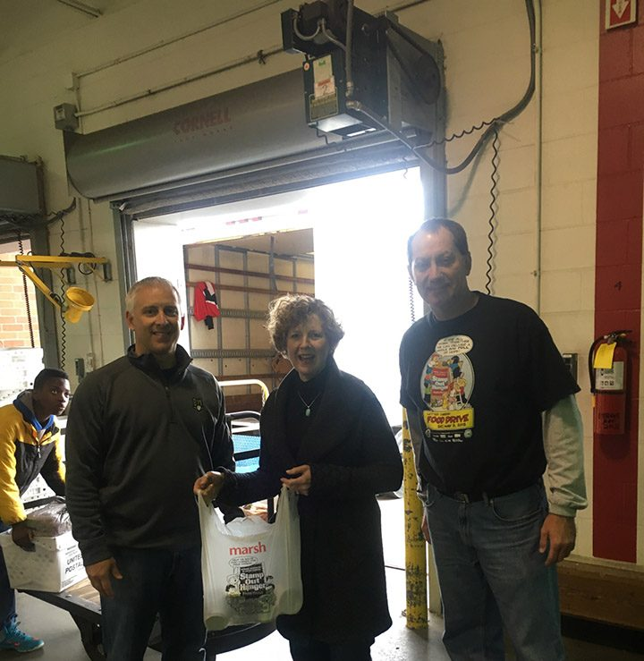 From left, Open Doors Food Pantry President Kurt Wanninger, Congresswoman Susan Brooks from Indiana District 5 and Merged Branch 888 President Ronnie Roush. (Submitted photo)