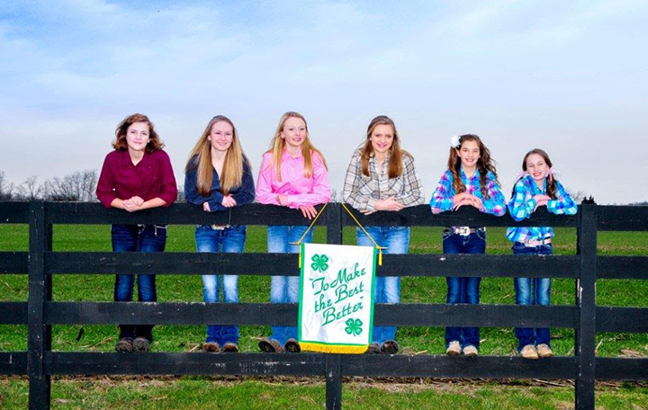 From left, Madeline Teal, Hayley Williams, Chloe Henderson, Karly Dean, Chaney Smith and Mackenzie Smith are participating in Hamilton County Harvest Food Bank, Inc. pilot program, MEATing the Need. (Photo by Melanie Bales Photography, LLC.)