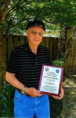 Louis Owen received the Wright Brothers Master Pilot Award for 50 years of Dedicated Service in Aviation Safety.