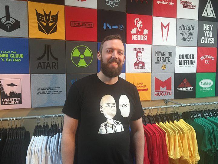 Tyler Copas in his new shop. (Photo by Adam Aasen)
