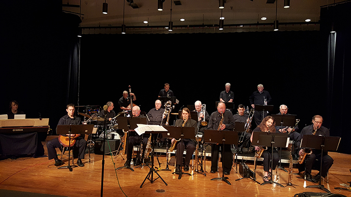 The Heartland Big Band, pictured during a previous performance at the Theater at the Fort, will perform there at 7 p.m. July 1 as part of the City of Lawrence's Fourth of July weekend kickoff. (Submitted photo)
