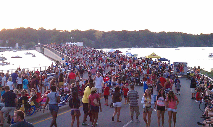 Event officials expect between 12,000 and 15,000 residents to descend on the Fall Creek Road bridge over Geist Reservoir for Blast on the Bridge. (File photos)