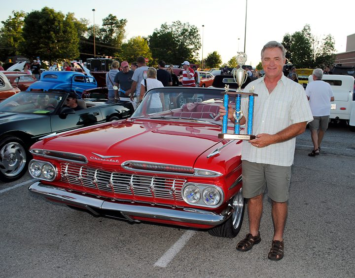Brett Burrow won Best in Show at the car show in 2014. This year, the car show will be doubled in size. (File photo)
